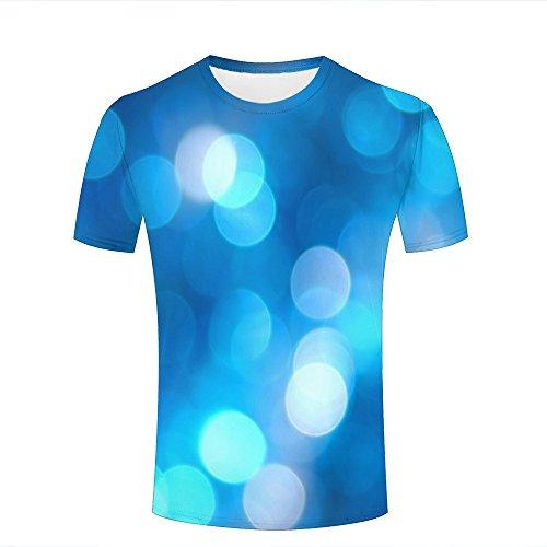 Manches Hommes Pois Clair Motif Bleu Courtes shirts T Néon 3d Imprimé A À Pour fxcWpqTZZE
