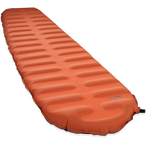 Therm-a-Rest EvoLite Plus Lightweight Self-Inflating Sleeping Pad, Large – 25 x 77 Inches