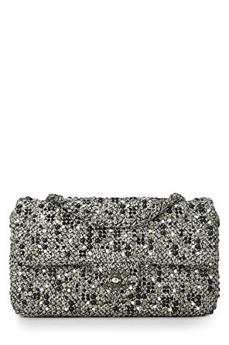 CHANEL Grey Tweed Classic Flap Medium (Pre-Owned) for sale Delivered  anywhere in fd8674cbe2941