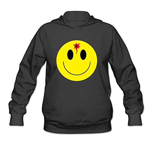 Oregon Bullet - Bullet Hole Smiley Face Panful Emoji Women's Hooded Sweatshirt