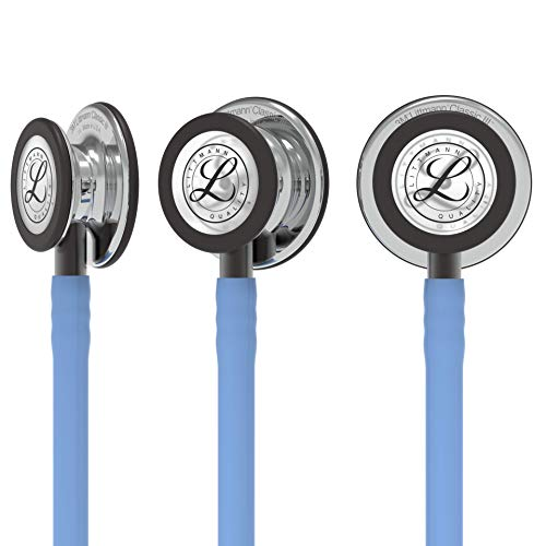 3M Littmann Classic III Monitoring Stethoscope, MirrorFinish Chestpiece, Ceil Blue Tube, Smoke Stem and Smoke Headset, 27 inch, 5959