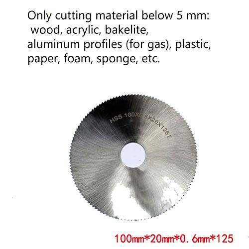 Multi functional woodworker engraving/cutting / polishing/polishing multi angle and safety. Cutting depth 26mm (High speed steel saw blade)