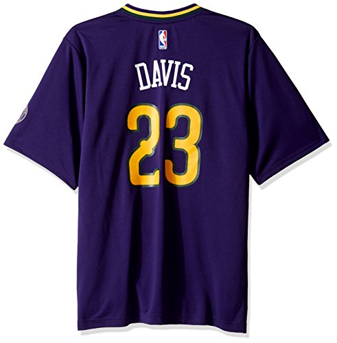 NBA Men's New Orleans Pelicans Anthony Davis Replica Player Pride Jersey, X-Large, Purple