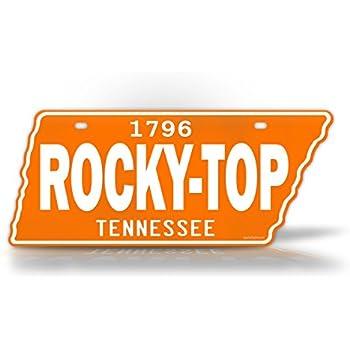 """Tennessee Volunteers VOLS Diamond Football 6/""""x12/"""" Aluminum License Plate Tag"""