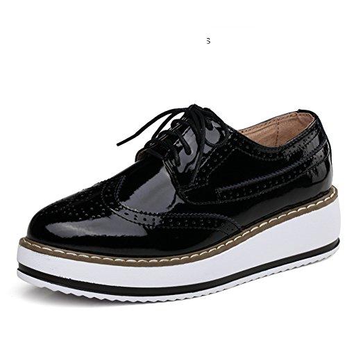 cales Occasionnelles Femme chaussures Angleterre Semelle Vent chaussures B Épaisse forme Chaussures Printemps Bloch Plate wvUqnv7x