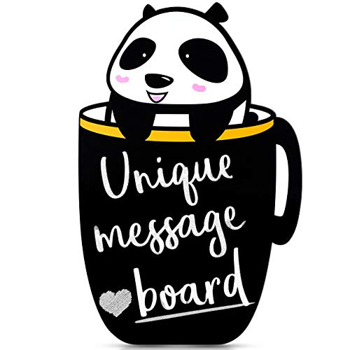 Tabletop Chalkboard/Dry Erase Alternative! Panda Writing Board/Easel for Kids Room Decor | Kitchen Countertop Sign. Wall Hanging Memo/Message/Menu Board. Perfect for Baby Shower, Wedding, Bar - Boards Shop Memo