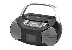 Naxa Electronics Npb-268 Portable Cdcassette Boombox (Silverblack)