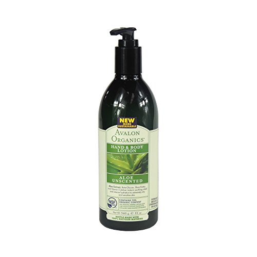 Avalon Organics - Hand & Body Lotion - Aloe Unscented - 340g (Case of 6)