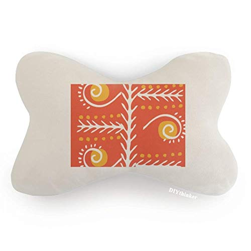 DIYthinker Orange Line Mexico Totems Ancient Civilization Car Neck Pillow Headrest Support Cushion Pad by DIYthinker