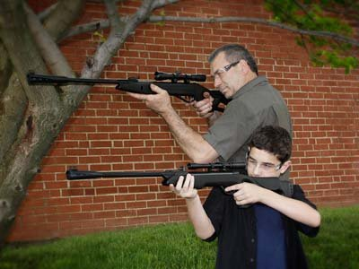 Dadz & Kidz Combo - Silent Cat & Recon G2 Whisper air rifle