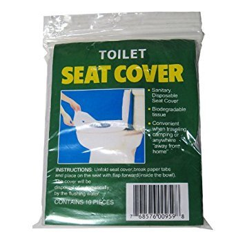 50 Disposable Toilet Seat Cover Travel Biodegradable