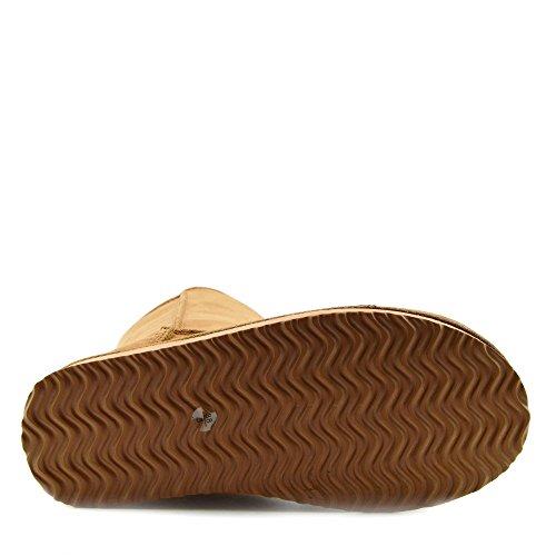 Mid Bottes Kick Chaussures Fourrure Fausse Footwear Sole Châtaigne Ladies Grip De Chaudes Winter Neige 8HwqX8