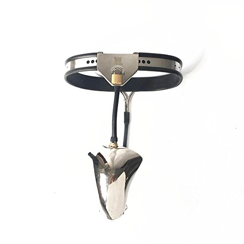 Male Chastity Devices Stainless Steel Chastity Belt Male Cock Cage Chastity Pants Cbt Penis Lock Adult Sex Toys for Man,Waist90~110