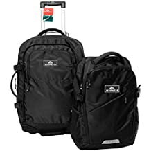 Hypath 2-in-1 Convertible Travel Bag - Use as a Backpack with Wheels, Wheeled Carry On, Duffle, or Stacked Rolling Luggage. Comes with Detachable Daypack. Carry it in 8 Different Ways.