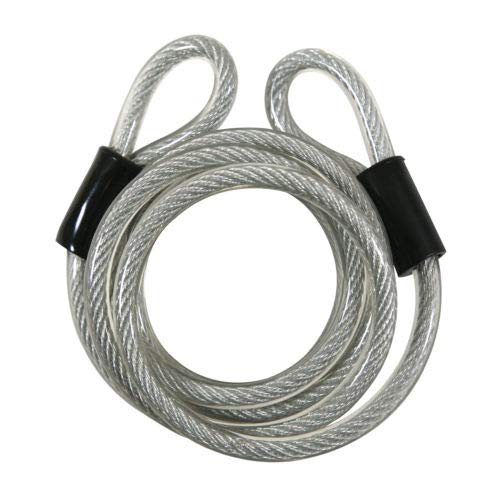 (H&H) New-Bike-Cable Lock Double Loop High Security Vinyl Covered (6 Foot) (1 pc)