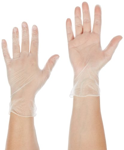 """UPC 076490026639, Ansell Dura-Touch 34-725 PVC Glove, Chemical Resistant, Powder Free, Rolled Beaded Cuff, 9"""" Length, 3 mils Thick, Medium (Pack of 100)"""