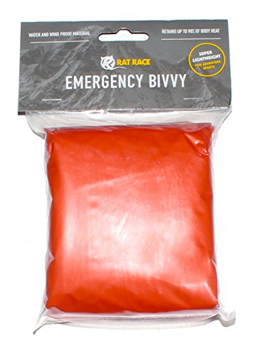 Rat Race Emergency Waterproof Orange Survival Bivvy Bag - Lightweight...