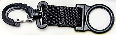 Innovative Scuba Concepts Deluxe Holder with Rubber Ringscuba Dive Regulator Mouthpiece, Black