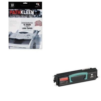 KITLEX23820SWREARR1237 - Value Kit - Lexmark 23820SW Toner (LEX23820SW) and Read Right PathKleen Printer Roller Cleaner Sheets (REARR1237)