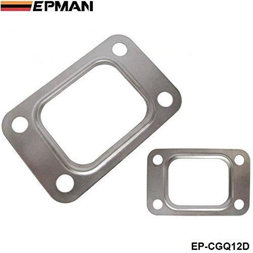 - EPMAN T25 T28 GT25 GT28 GT2876 Turbo Turbine Exhaust Inlet Manifold Flange Gasket 304 Stainless Steel (Silver, Pack of 10 )