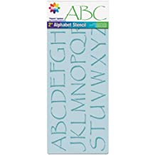 Delta Creative 2-Inch Letters Stencil, 8-1/4 by 18-Inch, 956780018 Papyrus