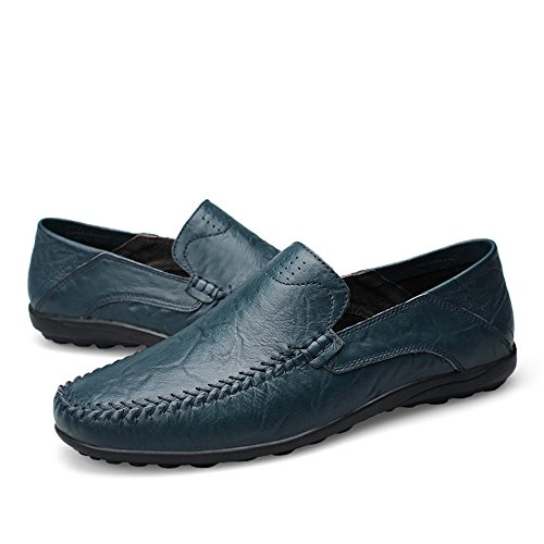 Slipper Morbidi Loafer da Blue Slip Uomo Vamp alla Color Mocassini Dimensione Uomo Moda di Moda 42 Casual On Design Driving Scarpe Hollow EU da fpPSx57q