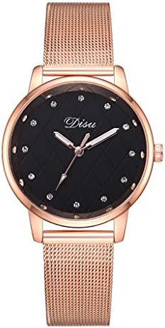 LUXISDE Watch Women Fashion Trend The Color Mesh with Pin BuckleDoes Not Show Off Ladies Watch