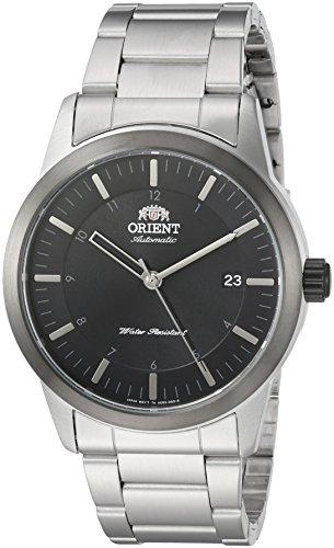 Orient Men's Sentinel Japanese-Automatic Watch with Stainless-Steel Strap, Silver, 22 (Model: FAC05001B0