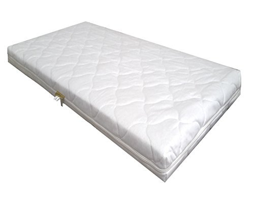 KiNDERWELT Schaumstoffmatratze Comfort gesteppt für Kinderbett Wiegen 90 x 40 x 7 cm Babymatratze Matratze Schaumkernmatratze