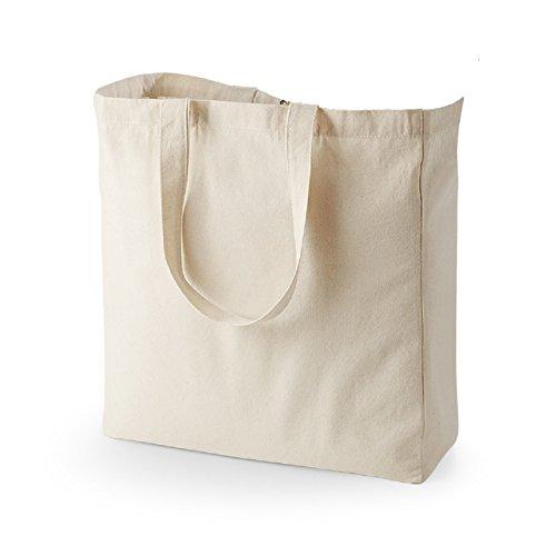 Quadra - Sac de Shopping en Toile Quadra Beige Peau