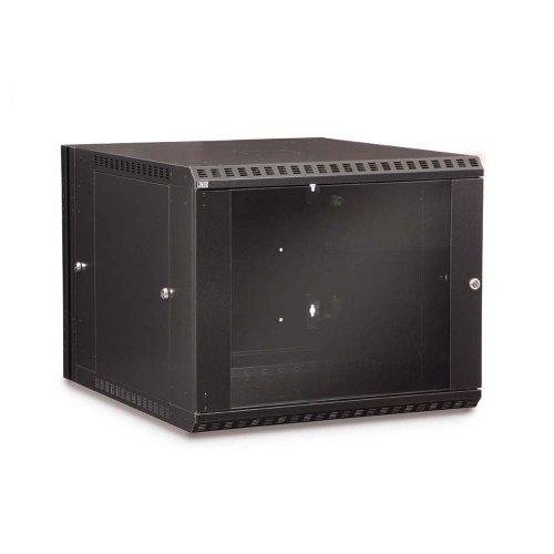 (Kendall Howard 9U LINIER Swing-Out Wall Mount Cabinet - Glass Door 3130-3-001-09)