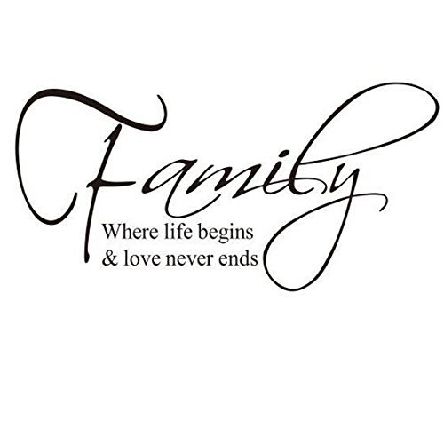 [Family Quote Sticker Removable Vinyl Wall Decals Letter Wall Art Inspirational Home Decor For Home, Office, Dorm, Or Any Wall,12 X 24¡­ by] (Animal That Starts With The Letter N)