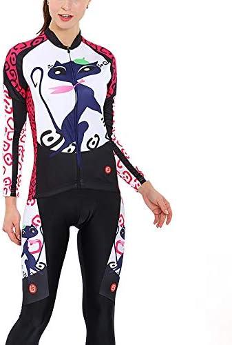 サイクルジャージ 女性のサイクリングジャージー女性の長袖セット秋のバイクスーツパンツ通気性の快適さ 吸汗速乾高通気 (色 : A1, サイズ : XXL)