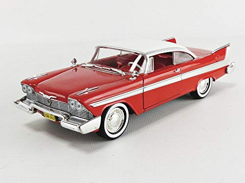 1958 Plymouth Fury Red Christine (1983) Movie 1/24 Diecast Model Car by Greenlight 84071