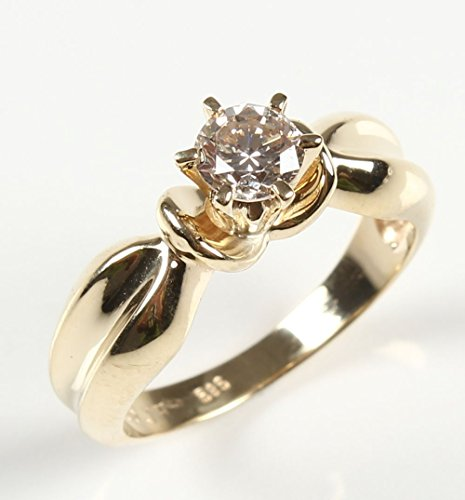 Stunning Diamond Solitaire Engagement Ring 0.60 CT - 14K Gold Ring - Unique Setting Engagement Ring - Natural Diamond Ring