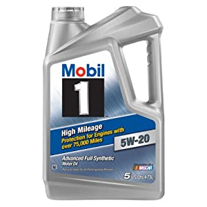 Mobil 1 (120768) High Mileage 5W-20 Motor Oil - 5 Quart