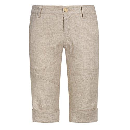 Moda Aire Playa Los De Hombres Lino Ocasionales Para Al La Verano Pantalones Yra Libre Amarillo Cortos Breechcloth wqXpp6