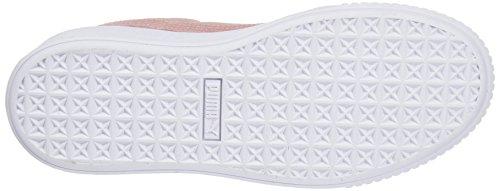 Sandalo Puma Damen Suede Platform Sneaker Beige (beige Pesca-puma Bianco)