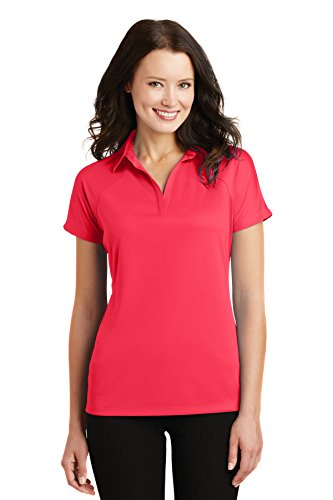 Port Authority Women's Crossover Raglan Polo L575 Hibiscus Pink - Style Authority
