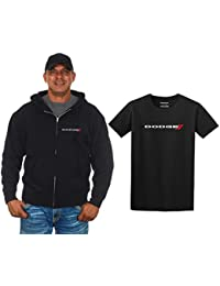 Men's Dodge Emblem Zip-Up Hoodie & T-Shirt Combo Gift Set