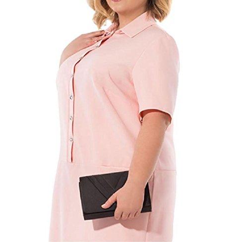 Coolred-femmes Bouton Vers Le Bas, Plus La Taille Lettre Robes Motif Imprimé Étoile De 6xl Rose