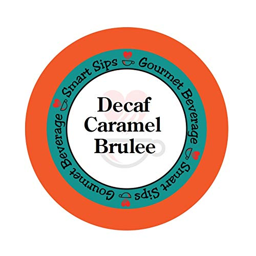 - Smart Sips, Decaf Caramel Brulee Flavored Coffee, 24 Count, Compatible With All Keurig K-cup Machines