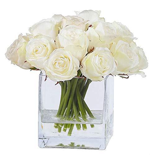 Fairye Square Transparent Glass Vase Without Bouquets ()