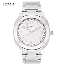 Laurels Polo 6 Analog White Dial Men's Watch ( Lo-Polo-601)