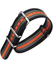 Watch Straps Seat Belt Nylon NATO Strap 18/20/22/24mm Heavy Duty Military Ballistic Replacement Watch Band easy fit