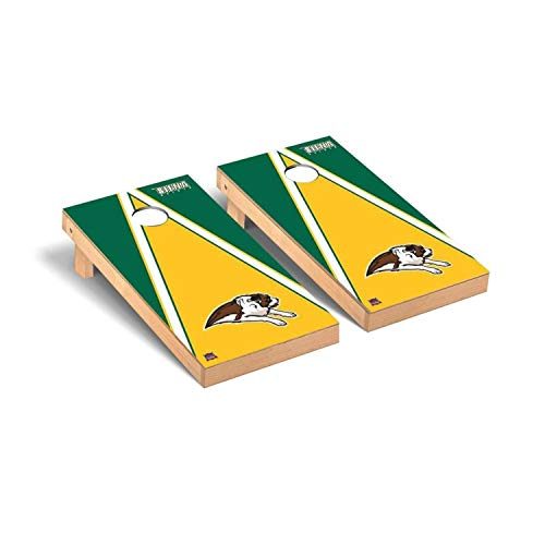 Victory Tailgate Regulation Collegiate NCAA Triangle Series Cornhole Board Set - 2 Boards, 8 Bags - Siena College Saints (Siena Board Game)