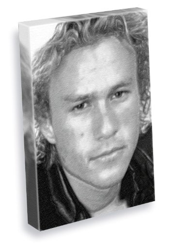 HEATH LEDGER - Canvas Print (A4 - Signed by the Artist) (Heath Ledger Signed)