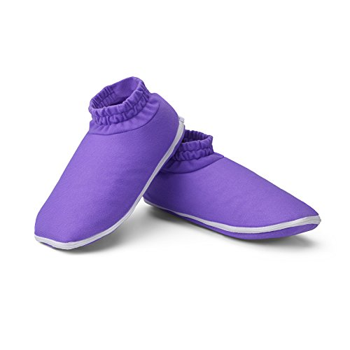 True Glow by Conair Relaxing + Soothing Heated Booties ~ Spa Heated Booties Deliver Soothing Warmth and Relief to Tired Feet ()