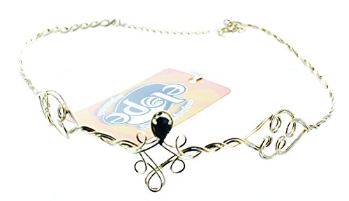 Adjustable Antique Finish - Gold & Black Womens Circlet by (Circlet Crown)