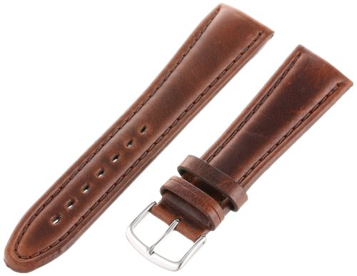 Hadley-Roma Men's MSM882RB-220 22-mm Brown Genuine Oil-Tan Leather WatchStrap